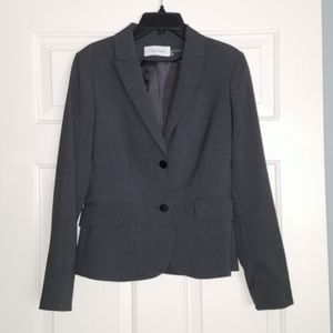 Calvin Klein charcoal gray suit jacket